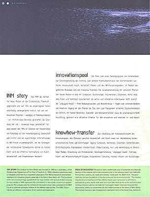 PDF page 13 Broschüre 1995 - 1998 INM-Institute for New Media